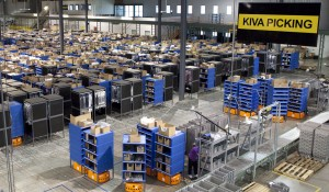 """Kiva System's Mobile-robotic Fulfillment Solution in action at Gilt Group's Distribution Center in Shepherdsville, KY""PHOTO CREDIT: Dawghause Photography"