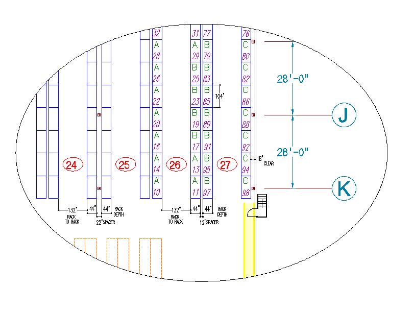 warehouse aisle width