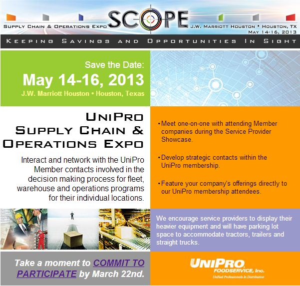 UniPro Scope May 14-16 2013